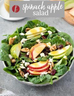 Spinach Apple Salad pin 2