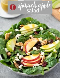 Spinach and Apple Salad pin 3