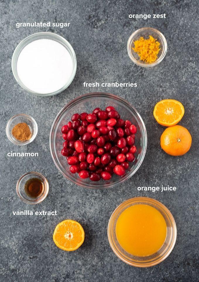 Cranberry orange sauce recipe ingredients