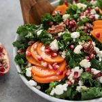 close up of holiday salad in bowl