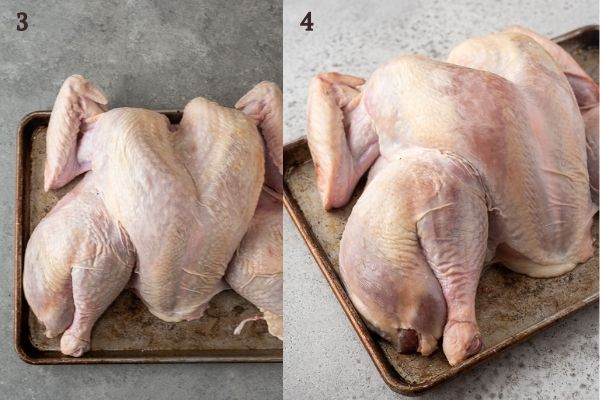 How to dry brine a turkey collage