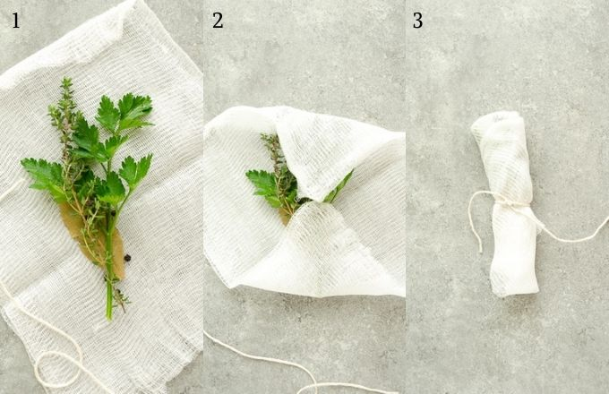 How to make a bouquet garni for turkey stock