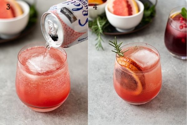 How to make vodka spritzer collage 2