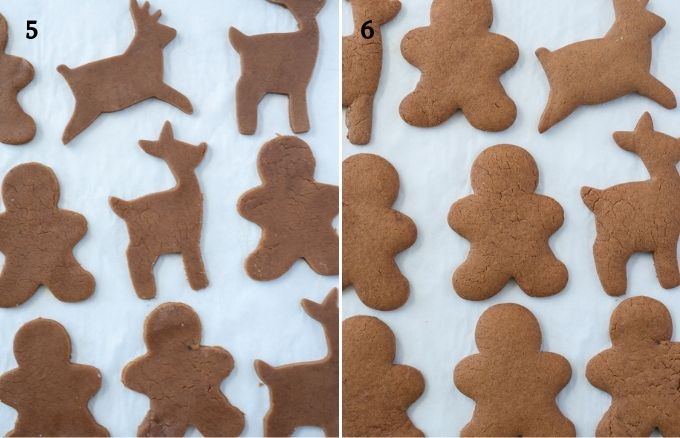 How to make gingerbread cookies collage 3