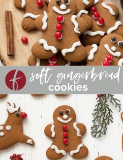Soft gingerbread cookies collage pin
