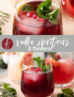 Vodka Spritzer recipe collage