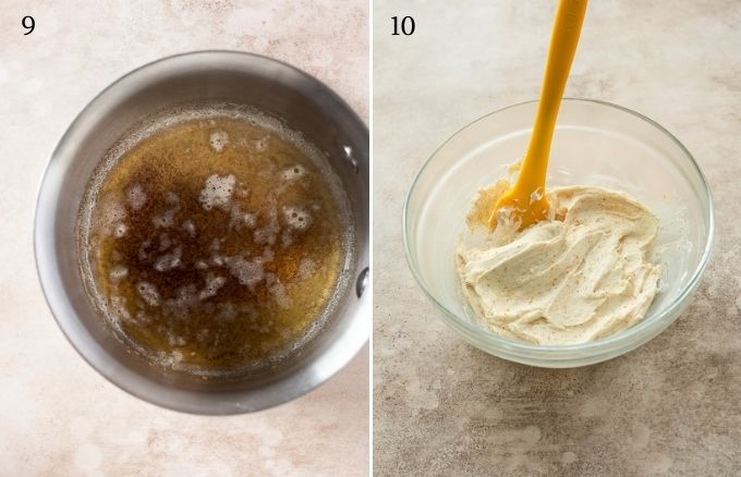 How to make brown butter frosting collage