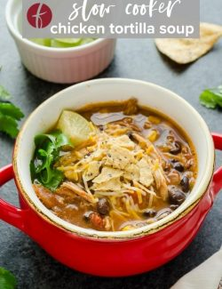 Chicken tortilla soup recipe pin