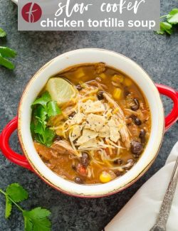Chicken Tortilla Soup Crock Pot pin