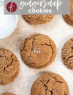 Gingersnap cookie recipe pin 1