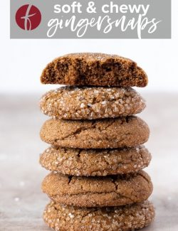 Soft gingersnap cookies pin 2