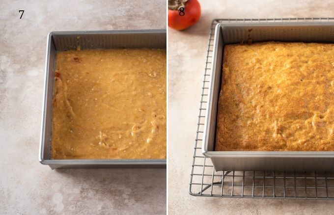 How to make persimmon cake collage 2