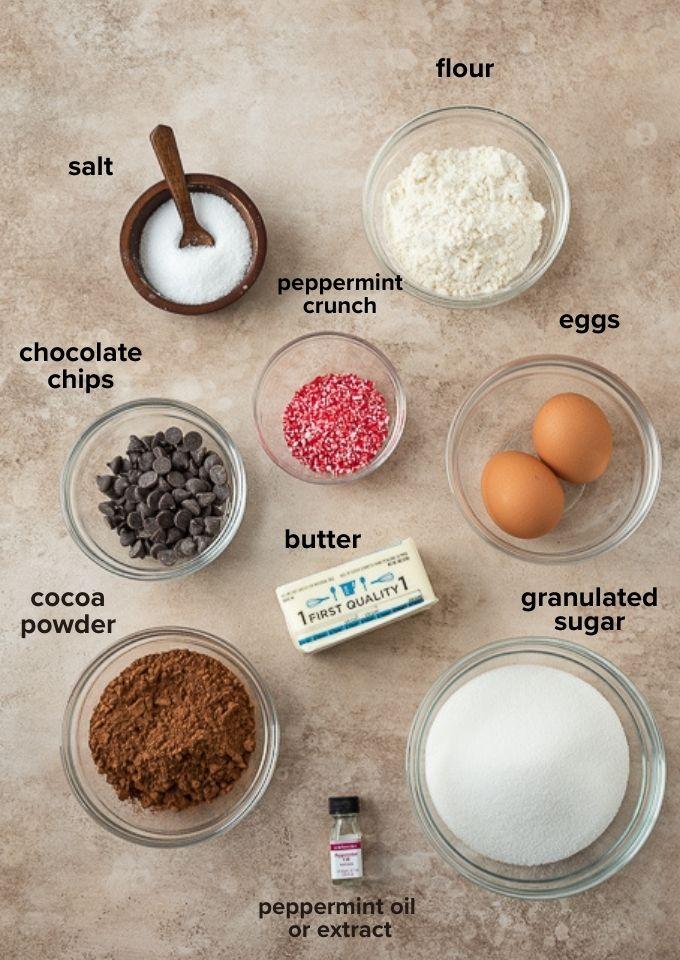 Peppermint brownie recipe ingredients