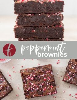 Peppermint brownies collage pin