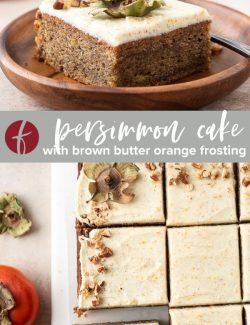 persimmon cake collage pin