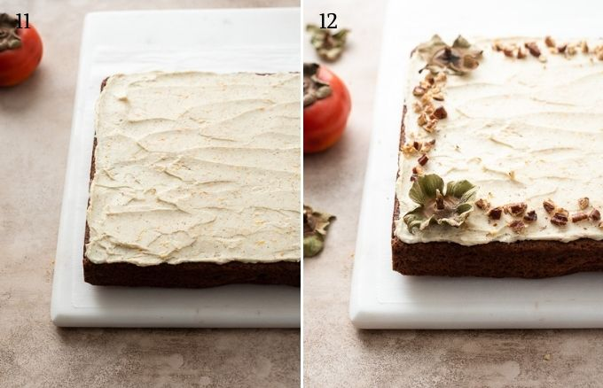 How to make persimmon cake collage 4