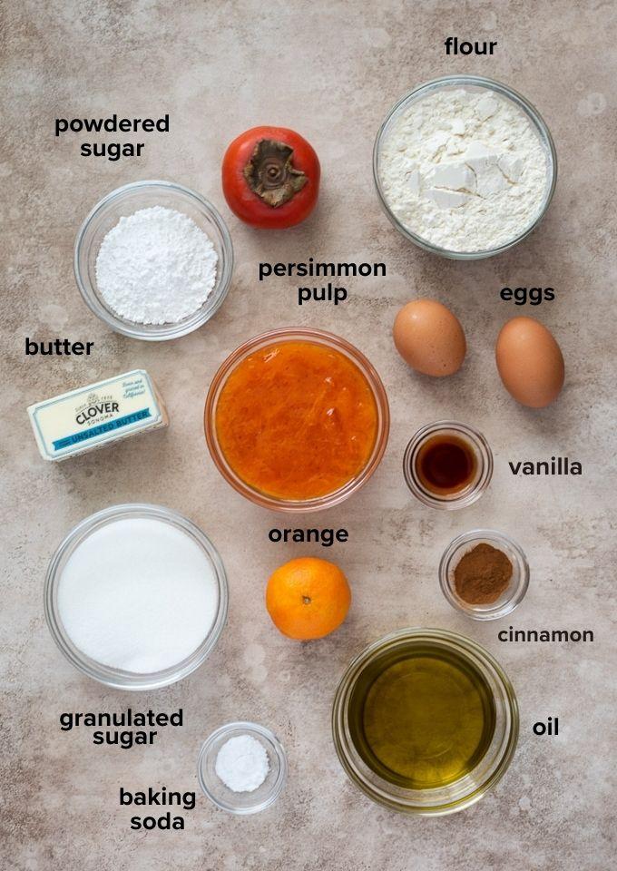 persimmon cake ingredients