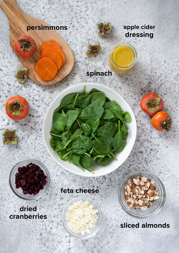 Persimmon salad recipe ingredients