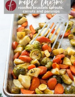 Roasted brussels sprouts carrots and parsnips pin