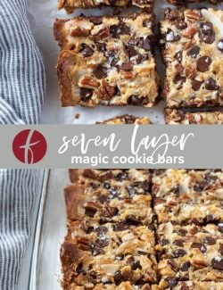 Seven Layer Magic Cookie Bars collage pin
