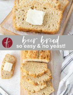 Beer bread recipe pinterest collage