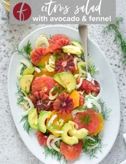 Winter citrus salad pin 1