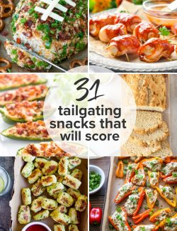 Tailgating snack recipes collage pin 2