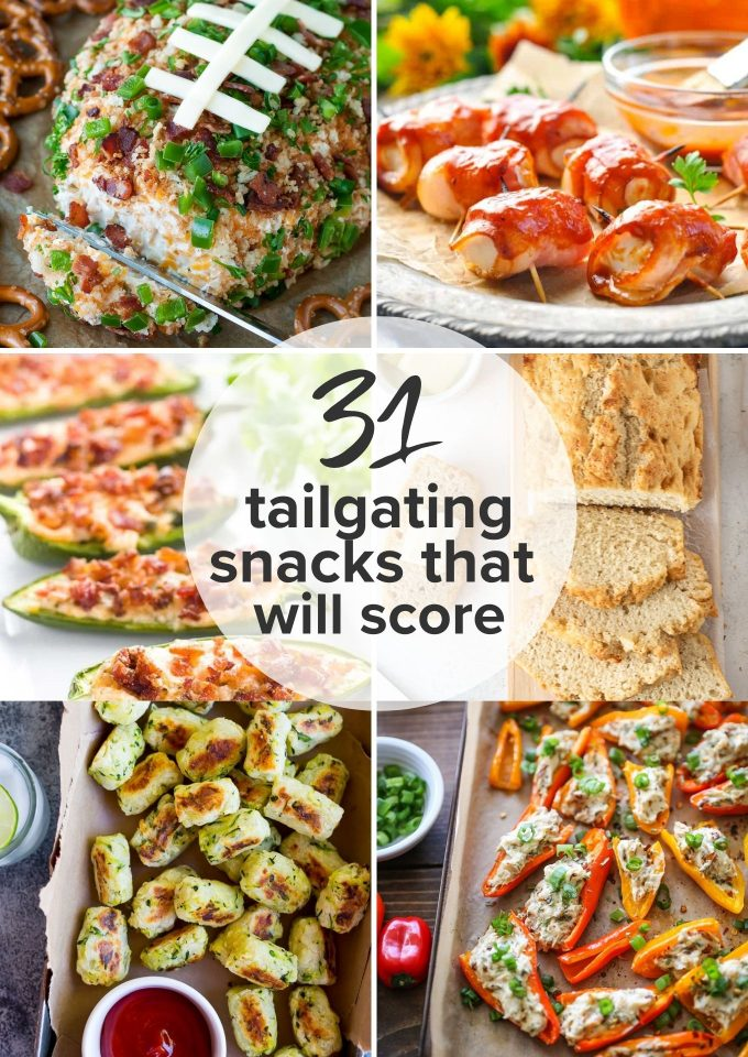 Tailgating snack recipes with zucchini tots, cheese ball and more