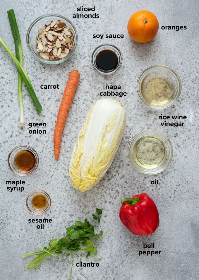 Napa cabbage salad ingredients