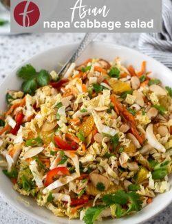 Asian Napa Cabbage salad pin 1
