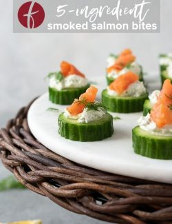 Smoked salmon appetizer bites pin 2