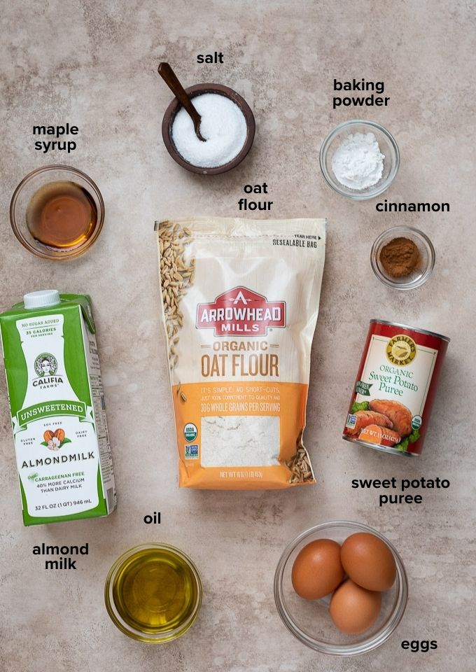Sweet potato waffle ingredients