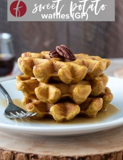Sweet potato waffle recipe pin