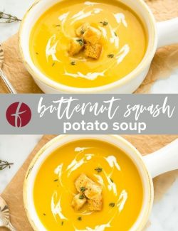 Butternut squash soup collage pin