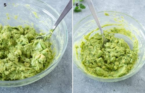 How to make guacamole collage