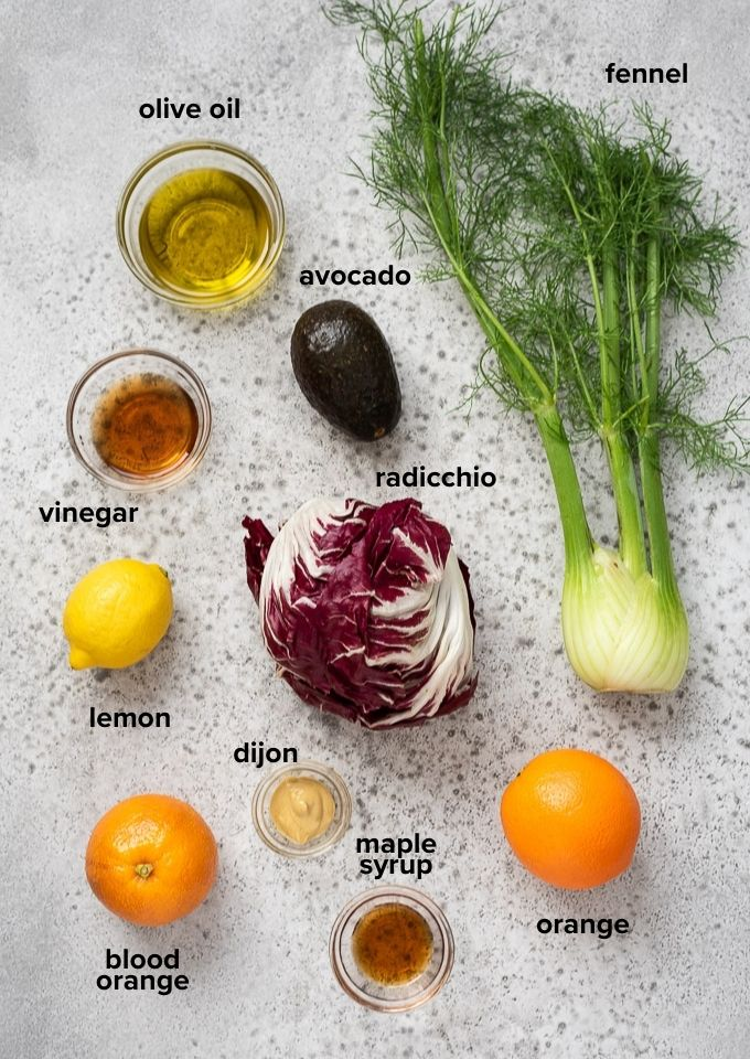 Radicchio salad ingredients
