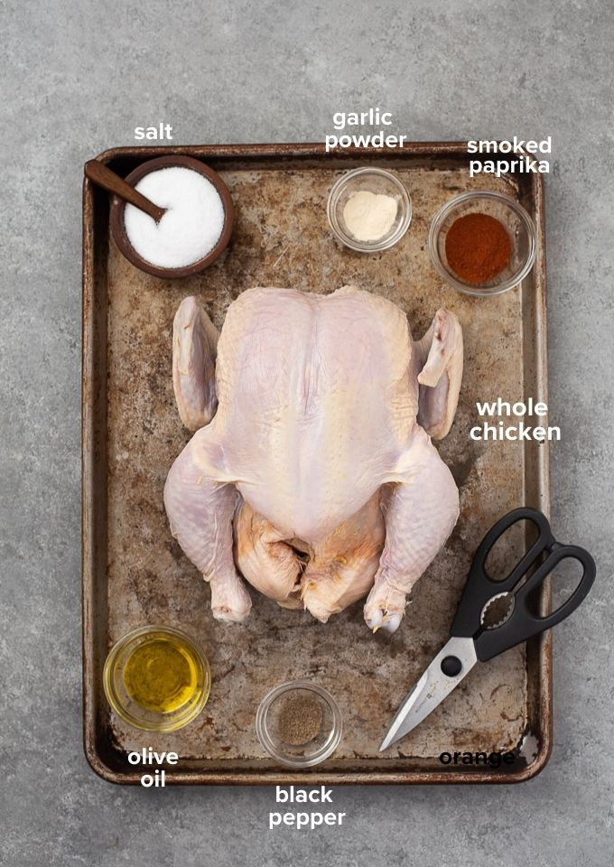 How to spatchcock a chicken ingredients and tools