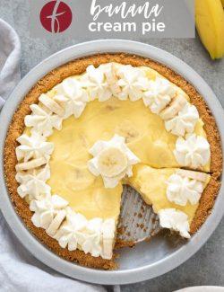Banana cream pie recipe Pinterest pin 2