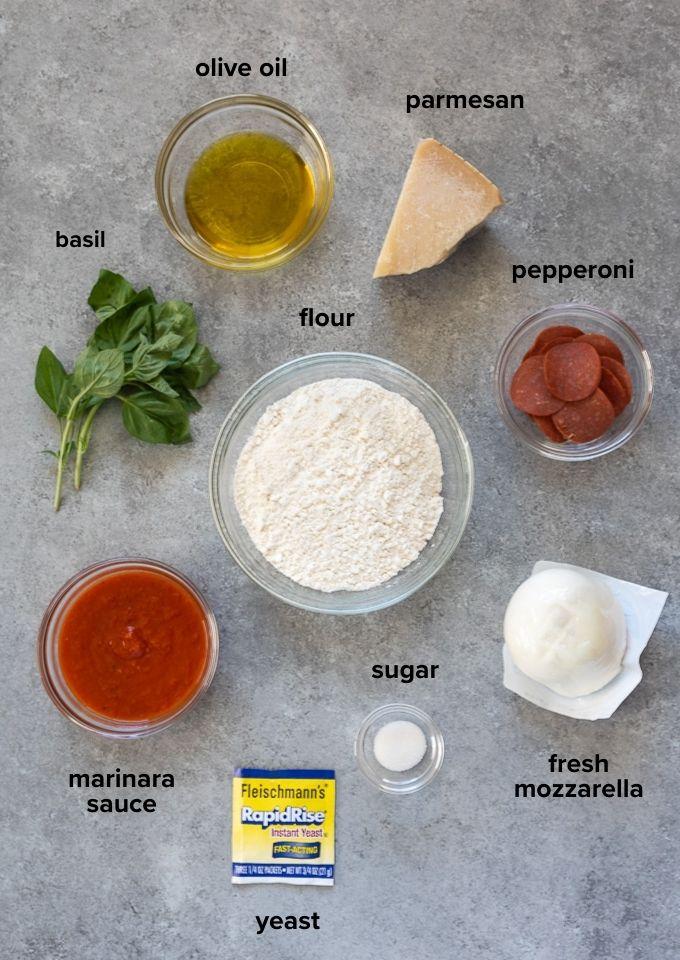 Focaccia pizza recipe ingredients