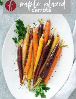 Glazed carrots Pinterest pin 1