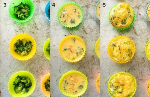 How to make crustless mini quiche collage
