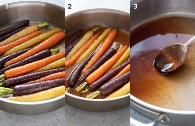 How to make glazed carrots collage