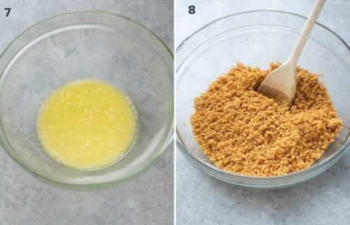 How to make a graham cracker pie crust collage