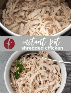 Instant Pot Shredded Chicken collage pin