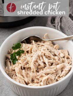 Shredded chicken breast in instant pot pin 2
