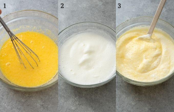 Steps to make lemon pudding cake batter