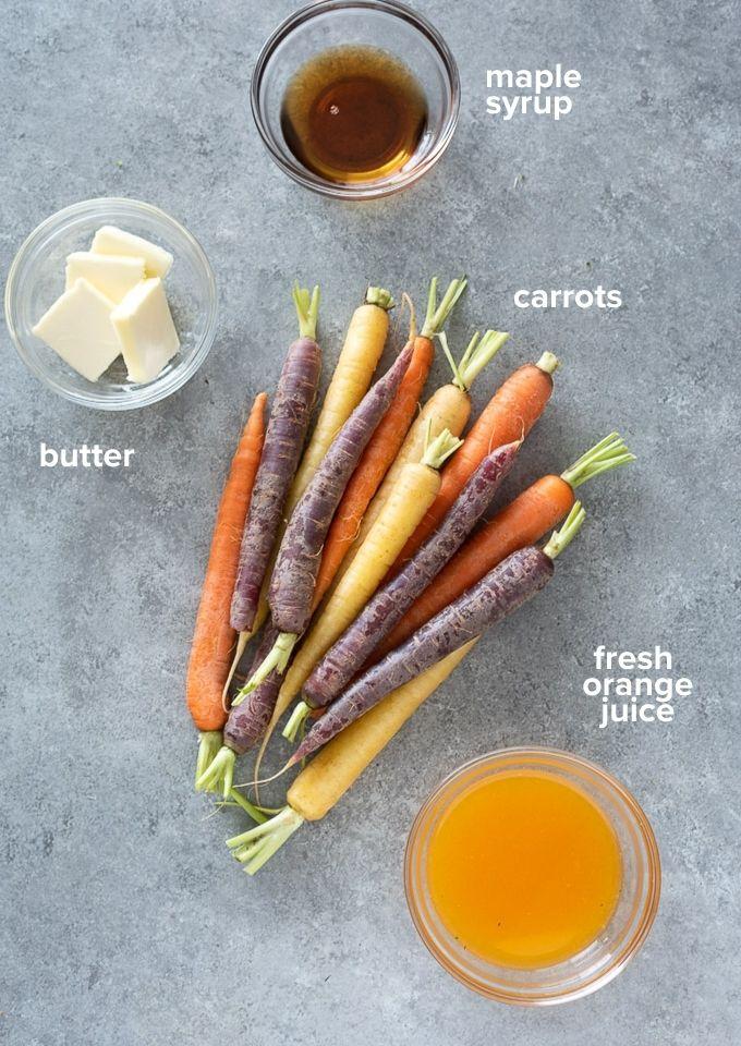 Maple glazed carrots recipe ingredients