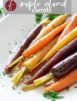 Maple glazed carrots Pinterest pin 2
