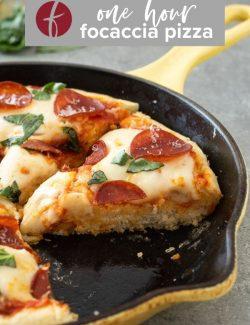 Focaccia pizza recipe Pinterest pin 2