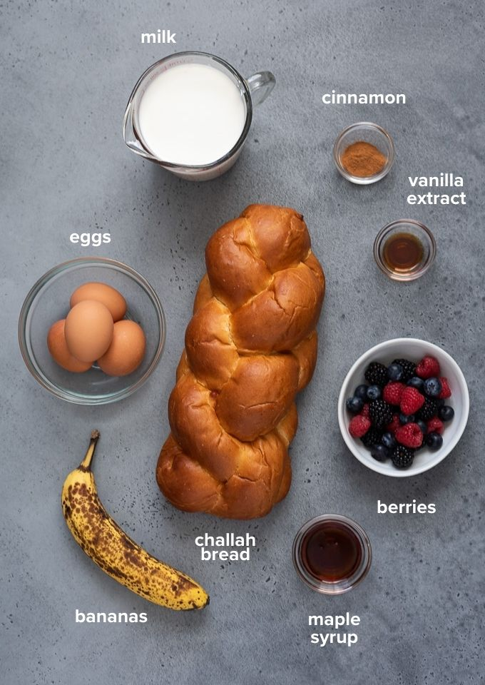 Overnight French toast casserole ingredients